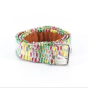 Accessories - 🌵2/$30 Yellow Pink Green BoHo Belt Size S